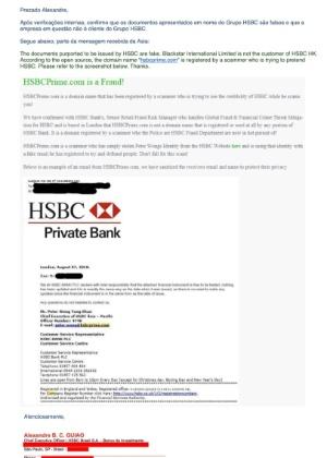 d5ff91247a HSBC diz que documento enviado pela Blackstar é fraudado Imagem   Reprodução.