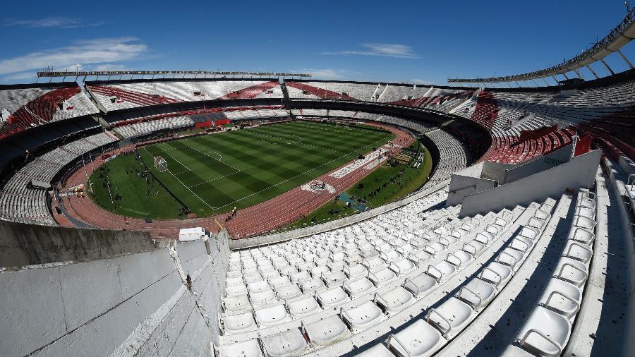 Vista do estádio Monumental de Nuñez, casa do River Plate - Jam Media/Getty Images