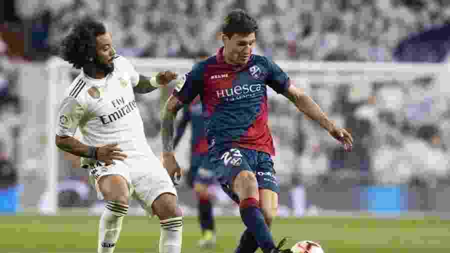 Damián Musto, do Huesca, está perto de ser anunciado pelo Internacional - Divulgação/SD Huesca