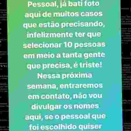 Ex-goleiro Marcos posta foto explicando sobre ajuda a pessoas no Instagram - Reprodução/Instagram