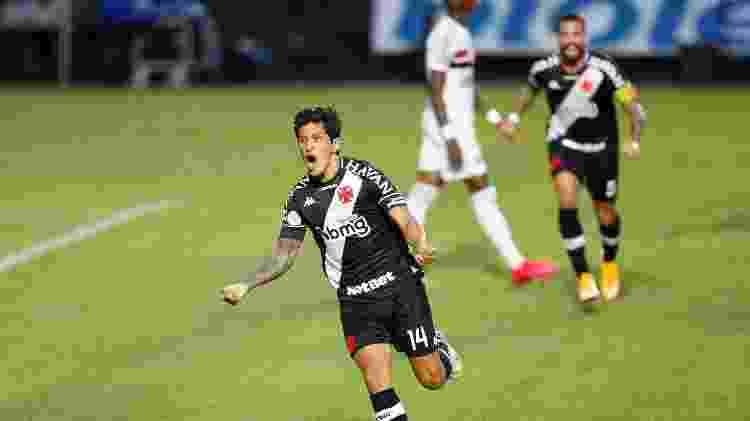German Cano comemora um dos gols do Vasco sobre o São Paulo, em jogo do Brasileirão 2020 - Rafael Ribeiro / Vasco - Rafael Ribeiro / Vasco