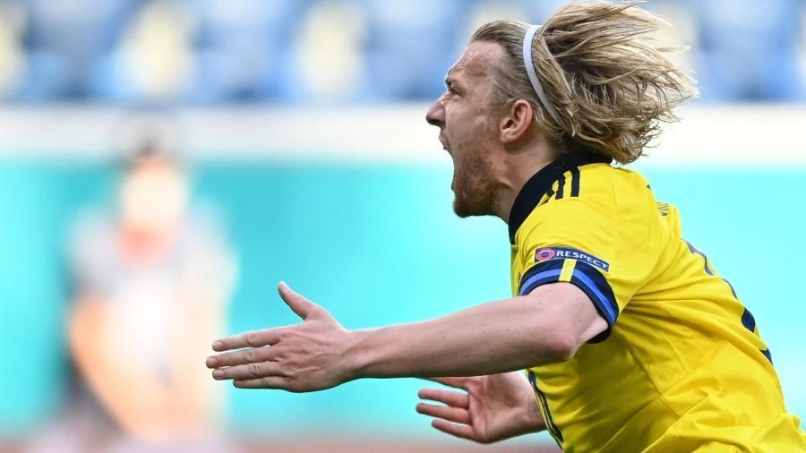 Suécia vence a Eslováquia e assume a liderança do Grupo E da Eurocopa - Kirill KUDRYAVTSEV / POOL / AFP