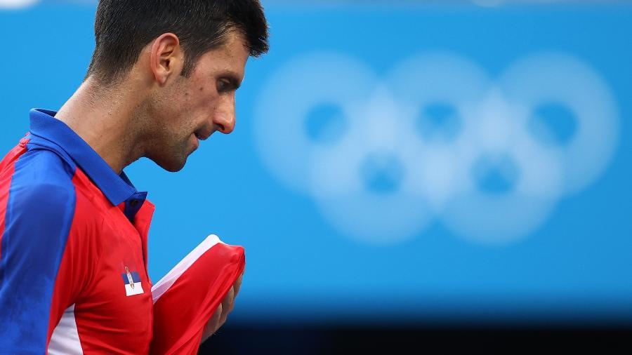 Novak Djokovic na disputa do bronze nos Jogos Olímpicos de Tóquio 2020 - Reuters