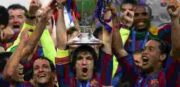 Barcelona foi campeão europeu em 2006 ao vencer o Arsenal na final - Gerry Penny/EFE