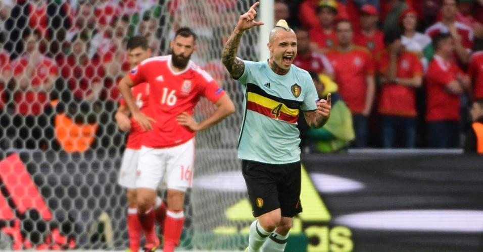Naiggolan marca gol da Bélgica sobre o País de Gales