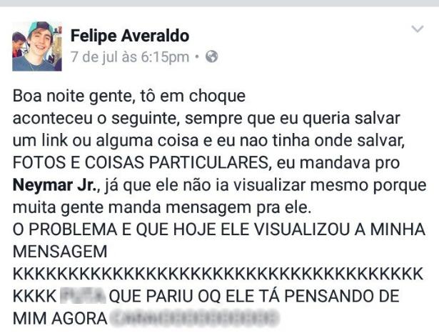 Mensagem de Felipe Averaldo fez sucesso nas redes sociais