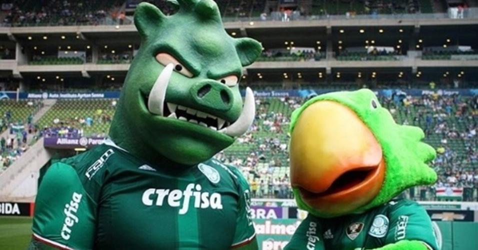 Palmeiras apresenta novo mascote para os torcedores