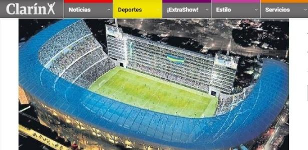 Projeto do novo La Bombonera publicado pelo jornal Clarin
