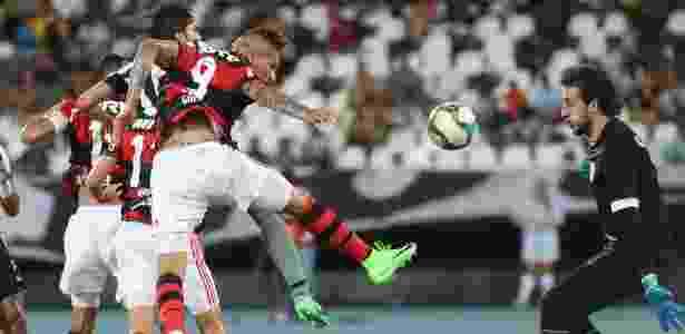 Paolo Guerrero fez um dos gols do Flamengo no último encontro com o Botafogo - Gilvan de Souza/Flamengo