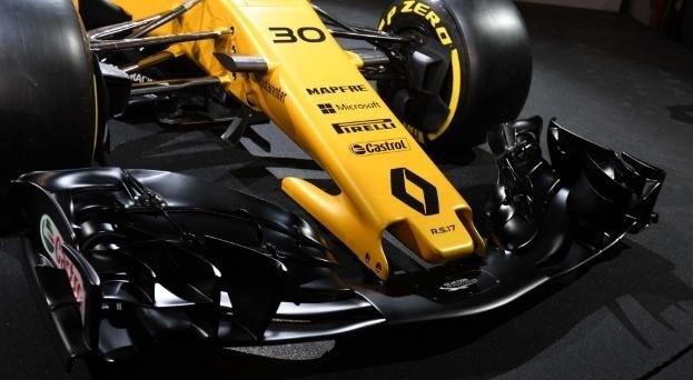 Bico do novo carro da Renault para a temporada e 2017 da Fórmula 1