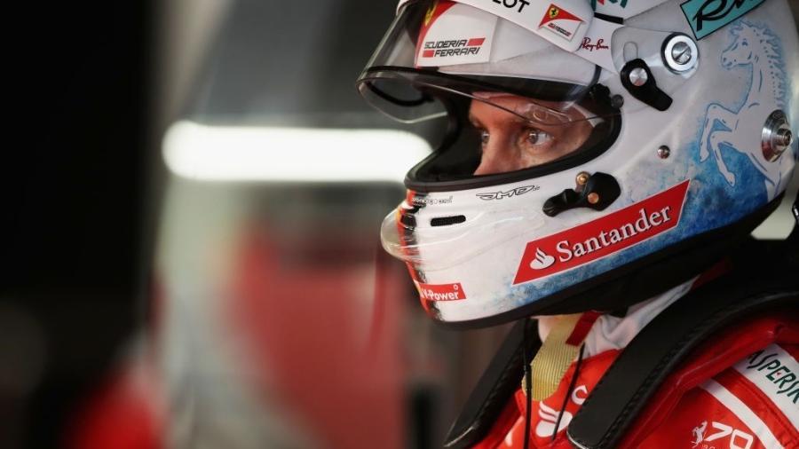 Sebastian Vettel, da Ferrari - Mark Thompson/Getty Images
