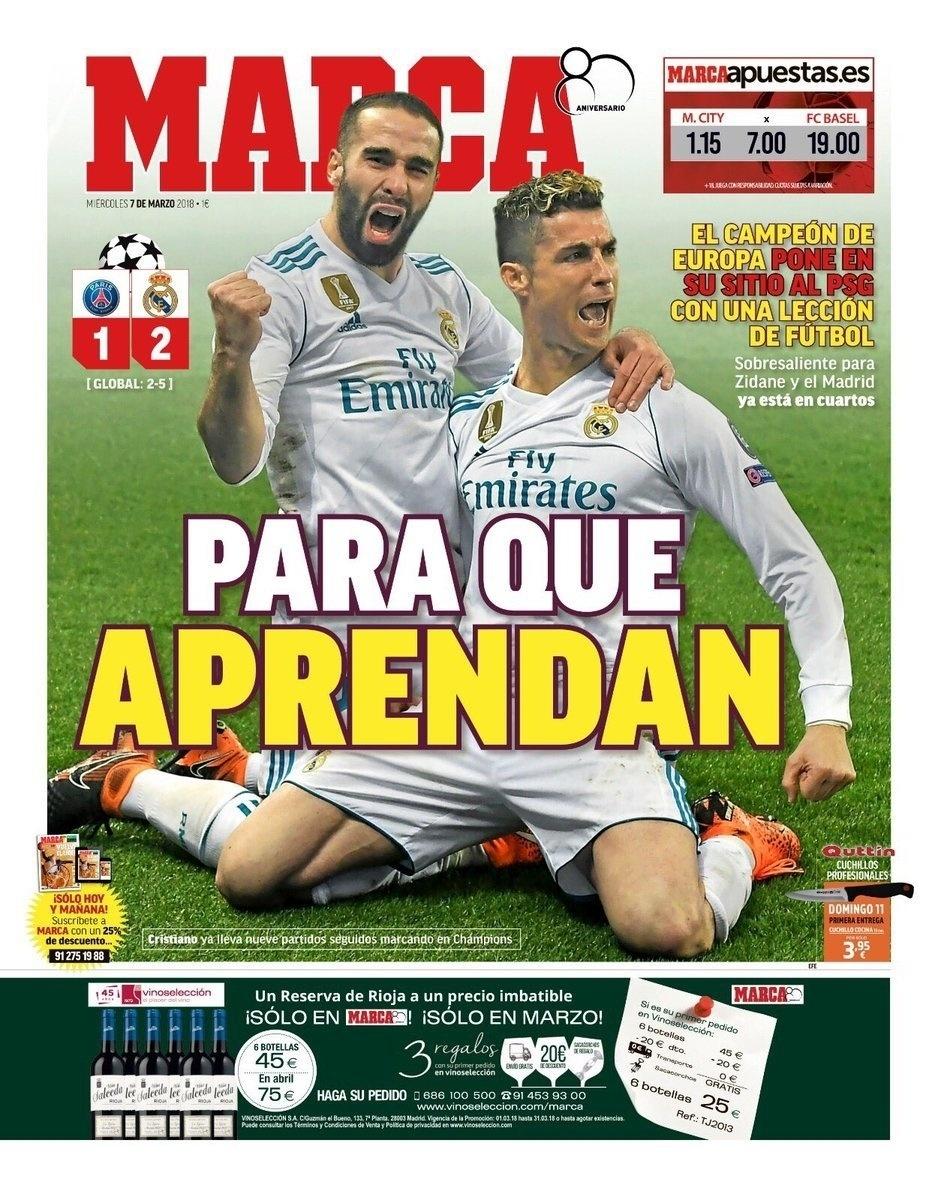 Marca: O campeão da Europa coloca o PSG em seu lugar com uma aula de futebol