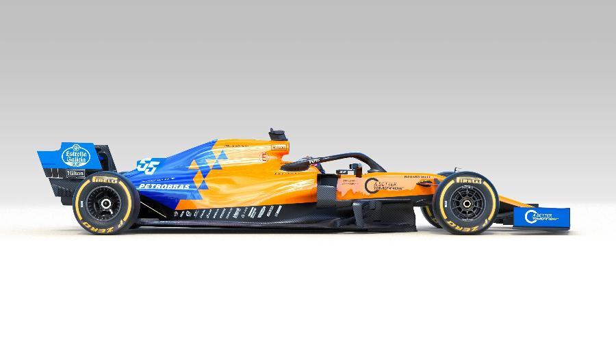 Marca da Petrobras está estampada no carro da McLaren lançado nesta quinta-feira - Divulgação