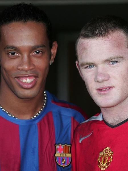 Ronaldinho e Rooney em foto de 2006 - Reprodução/Instagram