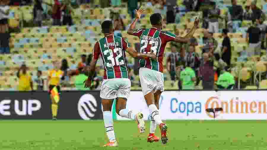 """""""Casal Sub-20"""", João Pedro e Marcos Paulo marcaram 56 gols em 2018 - Lucas Merçon/Fluminense FC"""