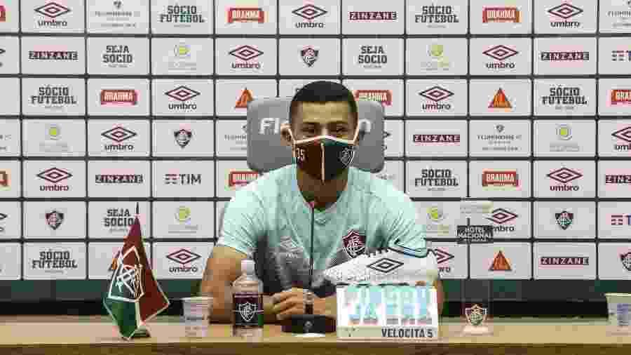 André exaltou a formação de talentos das divisões de base do Fluminense em Xerém - Lucas Mercon/Fluminense FC