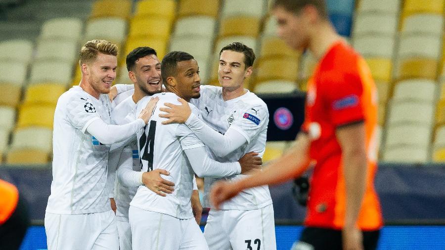 Borussia Moenchengladbach comemora em goleada contra o Shakhtar Donetsk - Getty Images