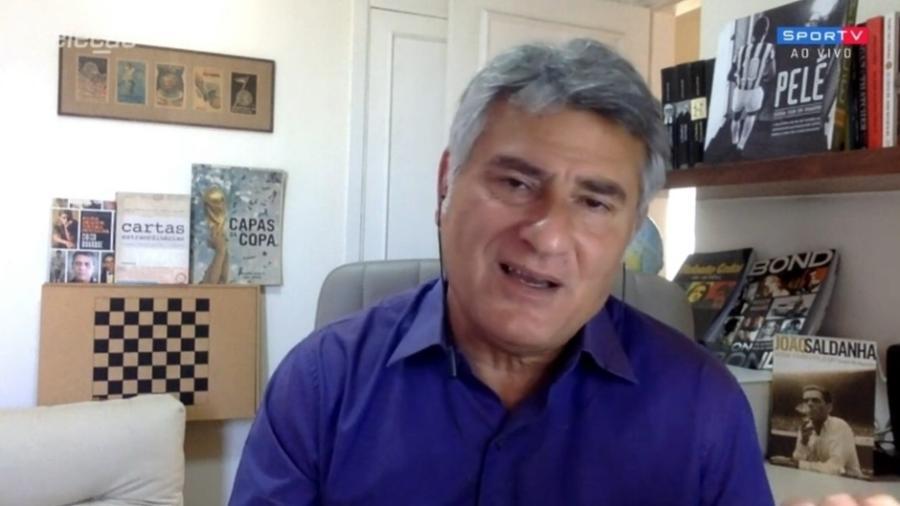 Cléber Machado diz que Santos deve focar nos torneios mata-mata - Reprodução/SporTV