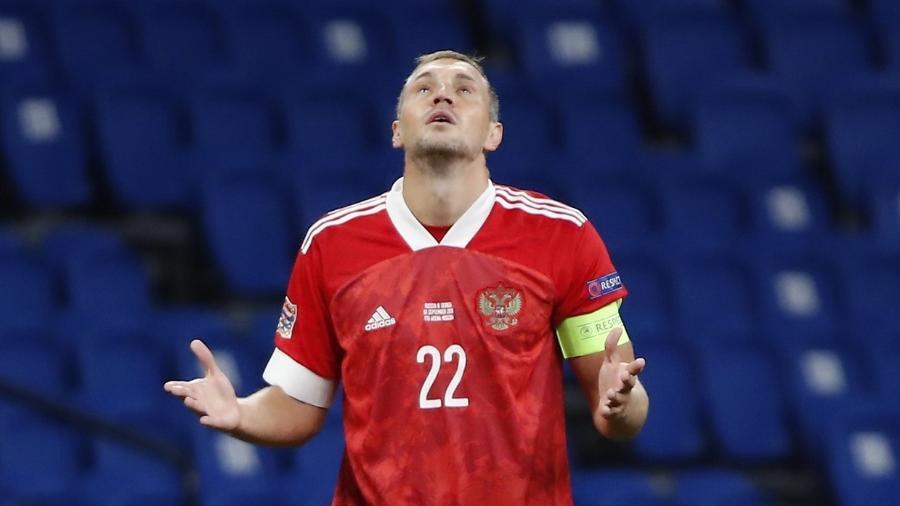 Artem Dzyuba é capitão, artilheiro e principal nome da seleção da Rússia - Reuters