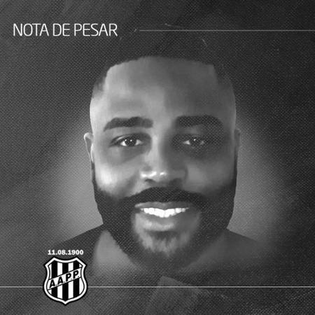 Ponte Preta lamenta a morte de Lucas Pereira, de 39 anos, vítima da covid-19 - Divulgação/A.A. Ponte Preta