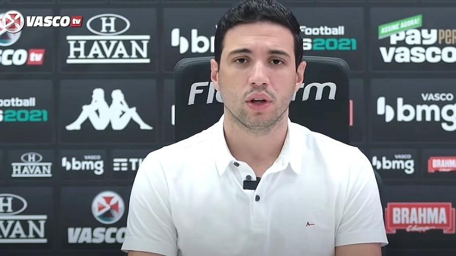 Alexandre Pássaro, executivo de futebol do Vasco - Reprodução/Vasco TV