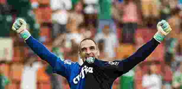 Fernando Prass foi campeão da Copa do Brasil com o Palmeiras em 2015 - Eduardo Knapp/Folhapress