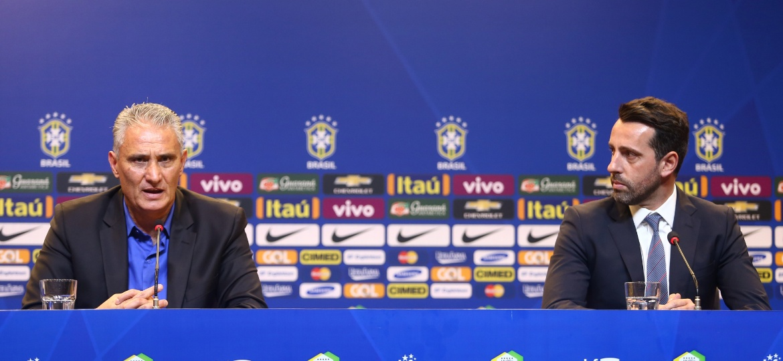 Tite e Edu Gaspar em entrevista: seleção não divulgou lista de 35 - Lucas Figueiredo / MoWA Press