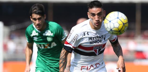 Última partida de Centurión pelo São Paulo foi o empate por 2 a 2 com a Chapecoense