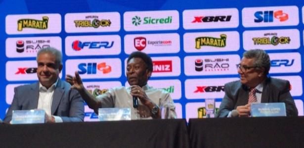 Pelé falou várias vezes sobre o Vasco, que não tinha um representante no evento da Ferj