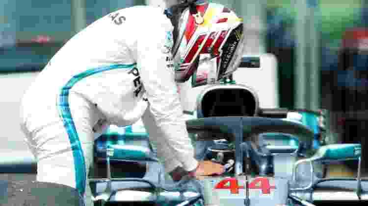Lewis Hamilton lamentou quebra da Mercedes durante treino oficial na Alemanha - Reuters - Reuters