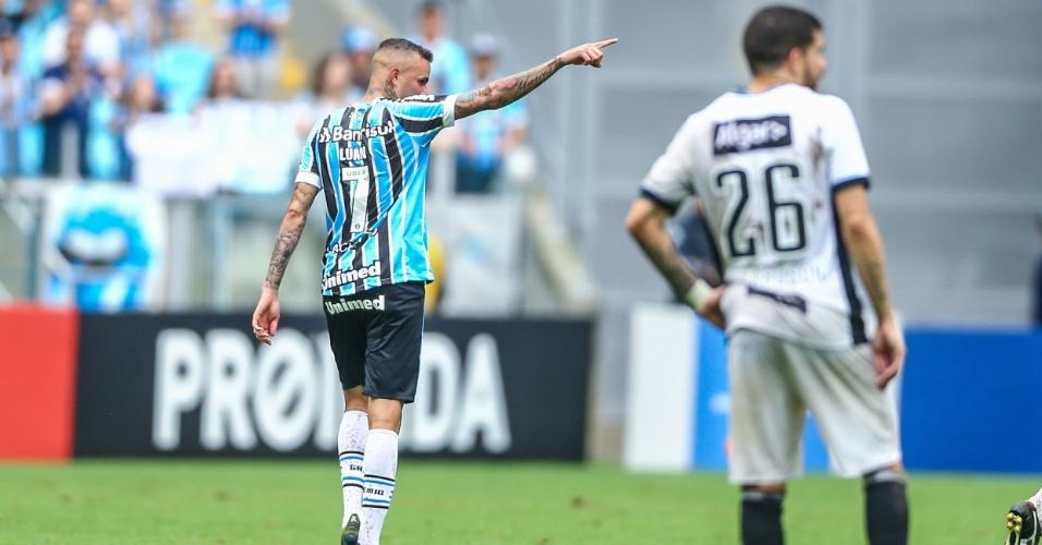 Luan Grêmio aponta comemoração
