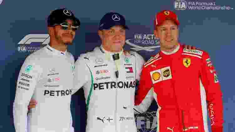 Hamilton, Bottas e Vettel no GP da Rússia - Maxim Shemetov/Reuters - Maxim Shemetov/Reuters