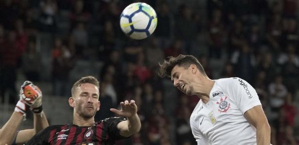 Léo Pereira fez o gol da vitória atleticana sobre o Corinthians - Daniel Augusto Jr/Ag. Corinthians