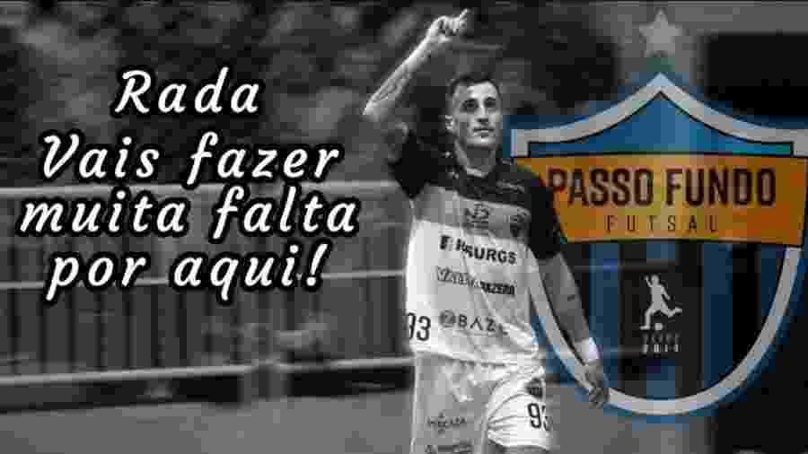 Jogador de futsal Pablo Radaeli morre em acidente de ônibus - Reprodução Facebook