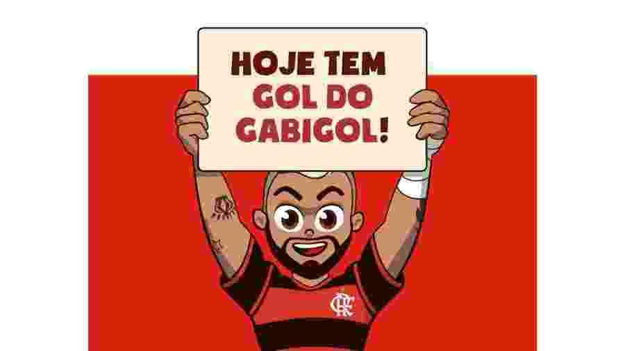 Gabigolzinho, personagem infantil de Gabigol, do Flamengo - Divulgação