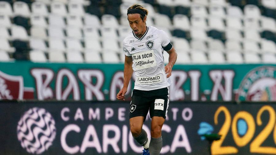 Honda, do Botafogo, na semifinal da Taça Rio, contra o Fluminense - Vitor Silva/Botafogo