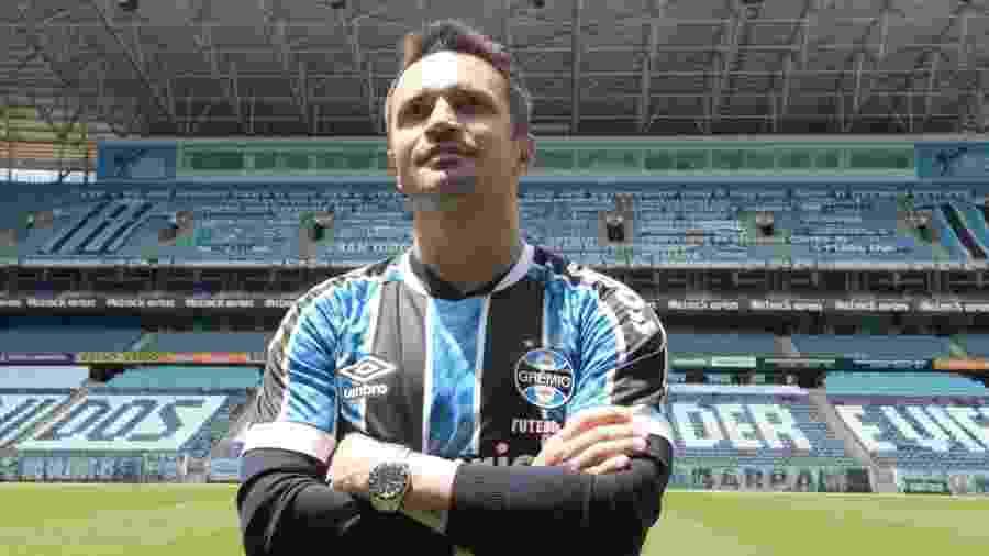 Falcão na Arena do Grêmio em chegada ao clube gaúcho - Luciano Maciel/Grêmio Fut7