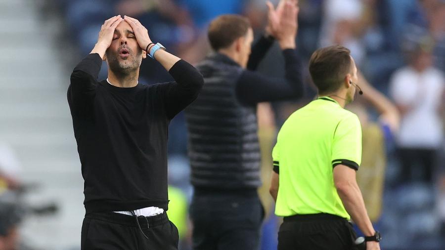 Pep Guardiola lamenta chance perdida pelo Manchester City na final da Champions - Carl Recine - Pool/Getty Images