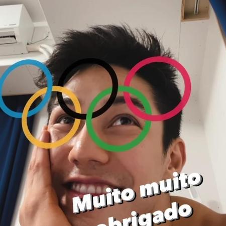 Arthur Nory registra as palavras de apoio de Diogo Soares  - Reprodução web