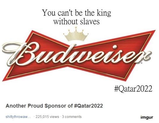 Internautas criam imagens com os logos das patrocinadoras da Fifa após denúncias de trabalho escravo em obras da Copa de 2022