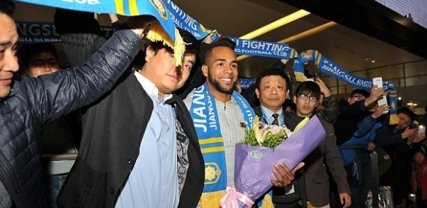 Alex Teixeira chegou à China no começo do ano - China Foto Press/Getty Images