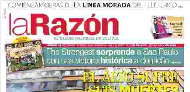 Jornal La Razon destaca vitória do The Strongest - Reprodução - Reprodução