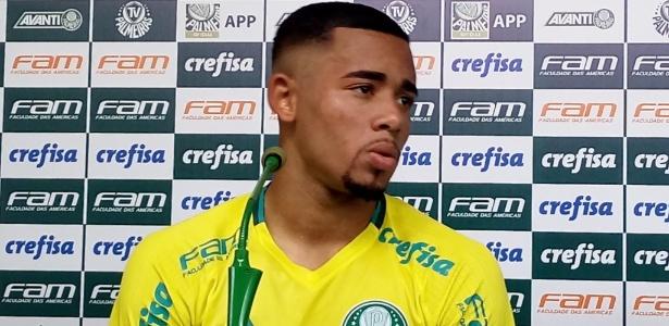 Gabriel Jesus falou pela 1ª vez no Palmeiras depois da transferência para o City