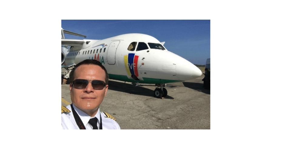 Miguel Quiroga, piloto da aeronave que caiu em Medellín