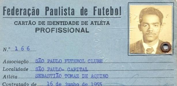 São Paulo divulgou imagem do registro de atleta de Paraíba  - Arquivo Histórico do São Paulo FC