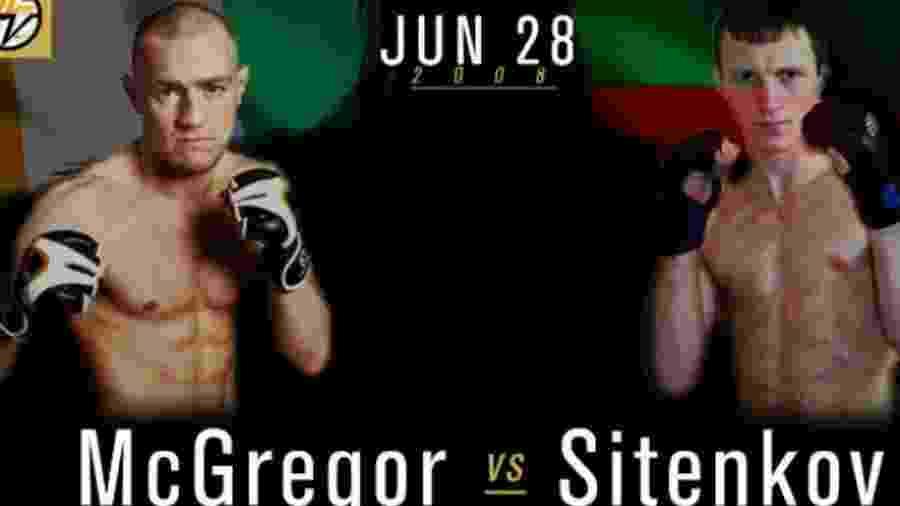 Cartaz da 1ª luta que Conor McGregor perdeu na carreira - Divulgação
