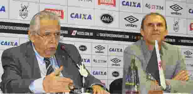 Eurico Miranda e Milton Mendes em entrevista coletiva no Vasco - Carlos Gregório Júnior / Flickr do Vasco