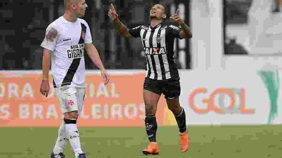 Otero comemora gol marcado para o Atlético-MG contra o Vasco - CLEVER FELIX/AGÊNCIA O DIA/AGÊNCIA O DIA/ESTADÃO CONTEÚDO