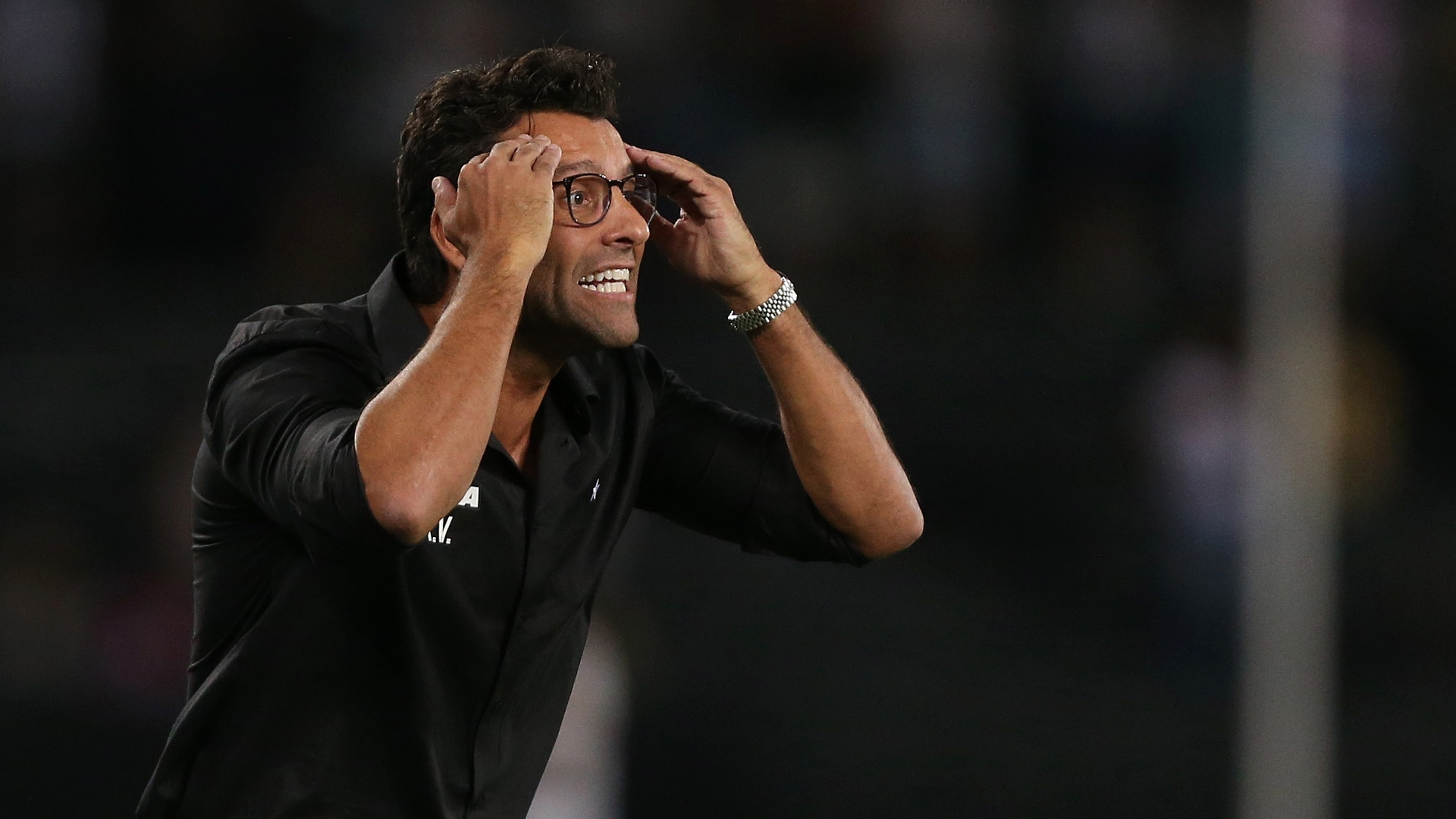 Alberto Valentim, técnico do Botafogo, na partida contra o Palmeiras