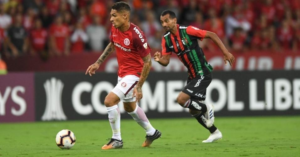 Guerrero, durante partida entre Inter e Palestino